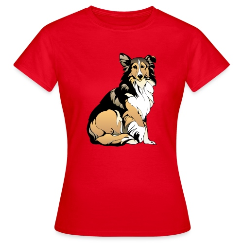 Collie hund - T-shirt dam