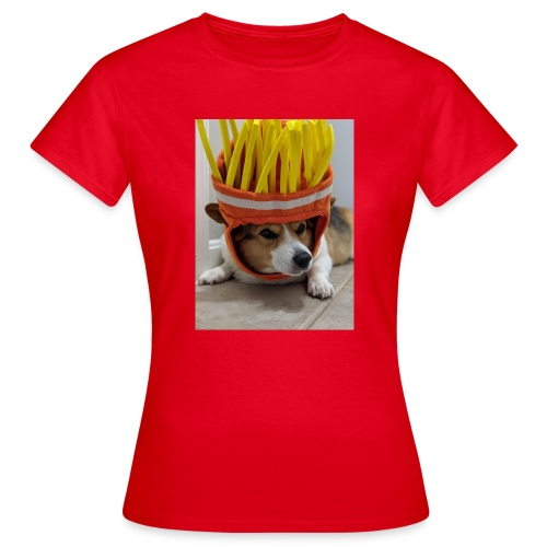 dog with c00l hat - Koszulka damska
