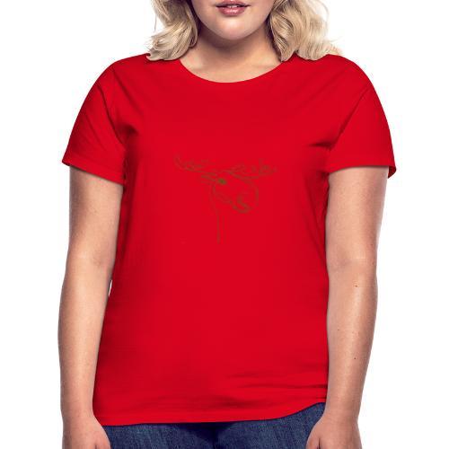 Elch braun in Linien - Frauen T-Shirt