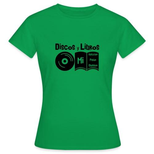 Discos y Libros - Camiseta mujer