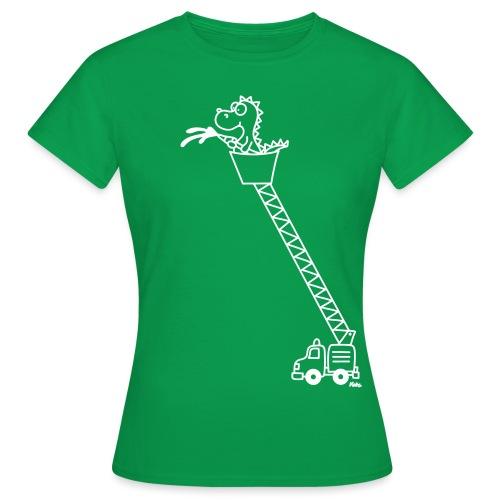 Drache mit Feuerwehrauto - Frauen T-Shirt