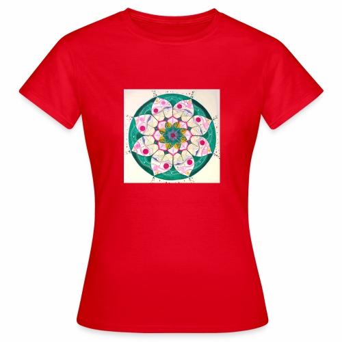 mandala rosa - Camiseta mujer
