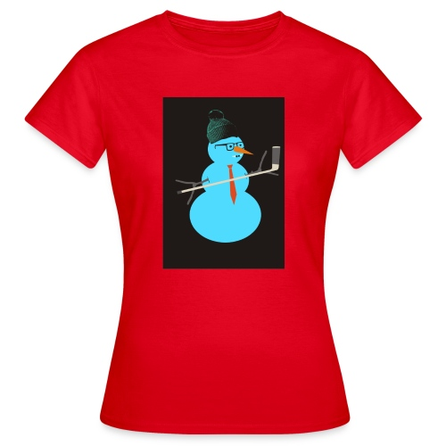 Hockey snowman - Naisten t-paita