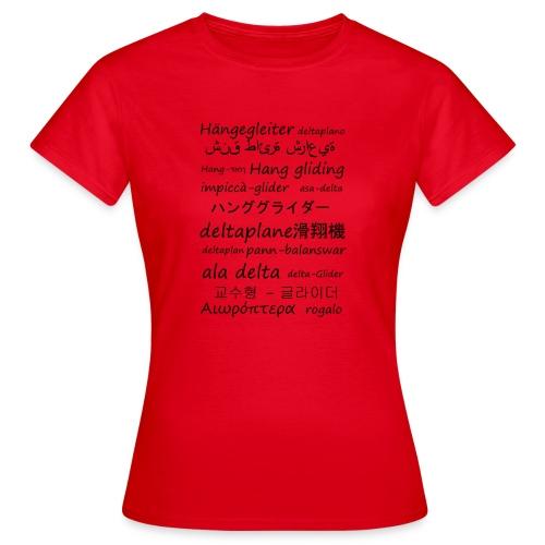 deltaplane en plusieurs langues - T-shirt Femme