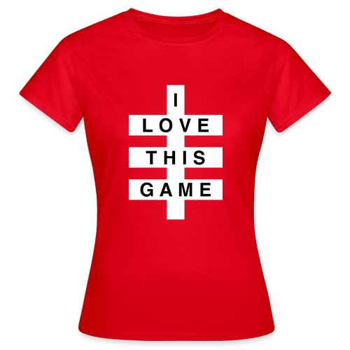 I Love this game // White logo - Vrouwen T-shirt