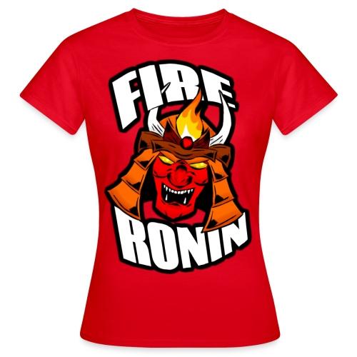 FireRoninHelmetshirt1 png - Women's T-Shirt
