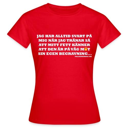 begravning - T-shirt dam