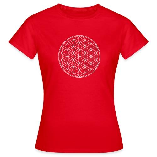 Blume des Lebens weiss groß png - Frauen T-Shirt