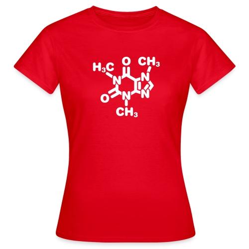 caffeinemolecule01d - T-skjorte for kvinner