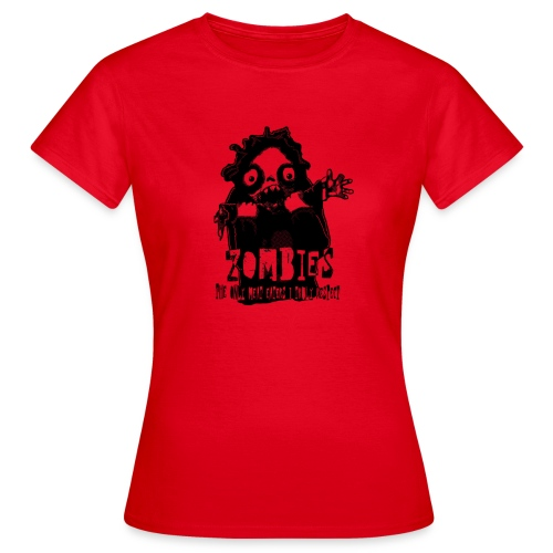 zombies the only meat eaters svart spsh - T-shirt dam