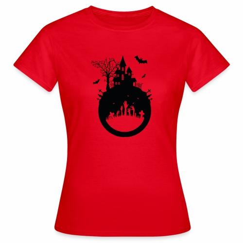 Haunted House - Halloween Design - Frauen T-Shirt