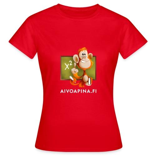 Aivoapina valkoinen teksti - Naisten t-paita