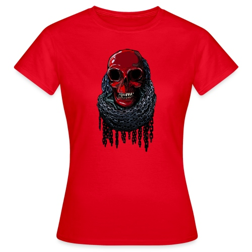 RED Skull in Chains - Women's T-Shirt
