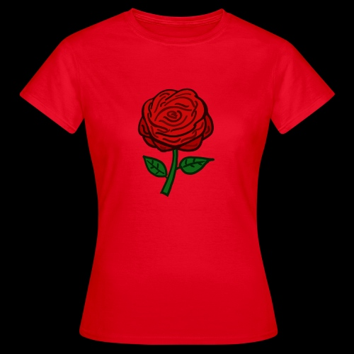 Rote Rose - Frauen T-Shirt