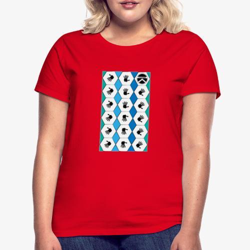 |K·CLOTHES| HEXAGON ESSENCE BLUES & WHITE - Camiseta mujer