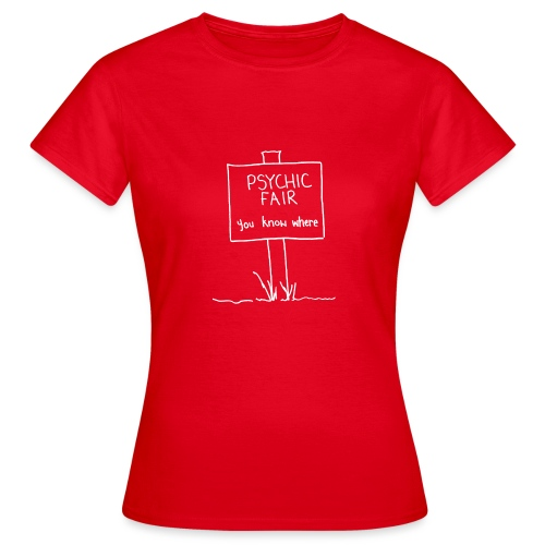 psychic sign white gif - Women's T-Shirt