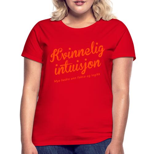 kvinneligintuisjon01b - T-skjorte for kvinner