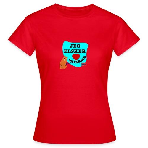 Jeg elsker Norge - T-skjorte for kvinner