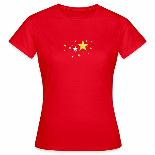 Sterne dreifarbig Vektor - Frauen T-Shirt