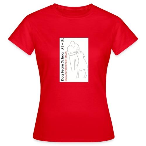 Logo Dog Team School - Frauen T-Shirt