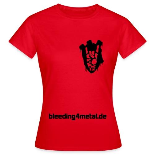 bleeding front heart - Frauen T-Shirt