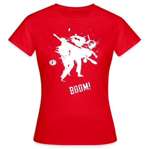 bkc boom on black - Women's T-Shirt