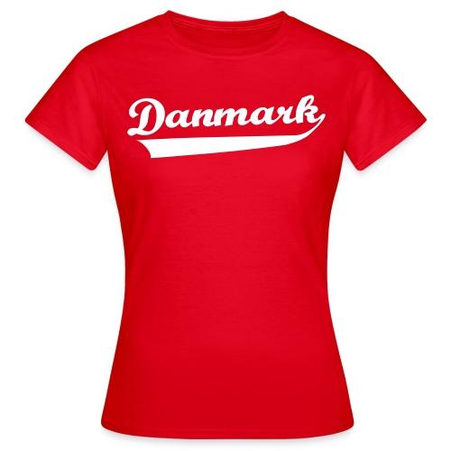 Danmark Swish - Dame-T-shirt