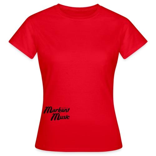 markant music schriftzug schwarz - Frauen T-Shirt