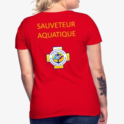 SAUVETEUR AQUATIQUE FFSS - T-shirt Femme