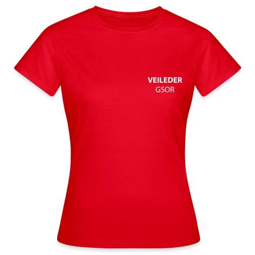 veileder gsor - T-skjorte for kvinner