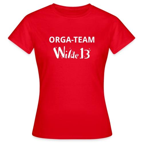 Wilde 13 Orga Team vorne - Frauen T-Shirt