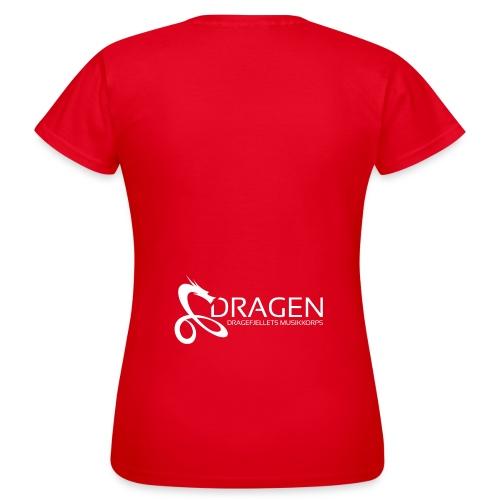 Dragelogo Hvit - T-skjorte for kvinner