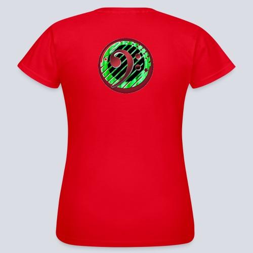 BassClef red green - Women's T-Shirt