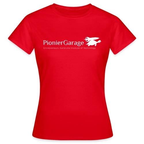 LogoMitNameUndSloganWhite png - Frauen T-Shirt