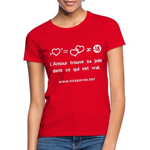 True love - T-shirt Femme