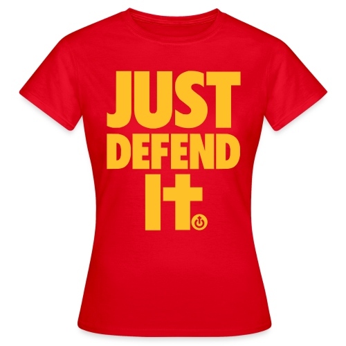just defend it vect - Camiseta mujer