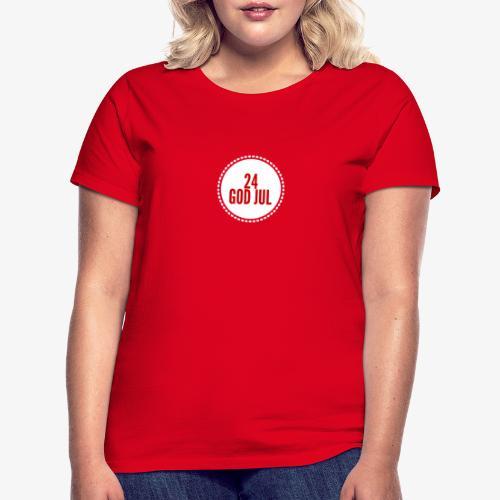 Pakkekalender - T-skjorte for kvinner