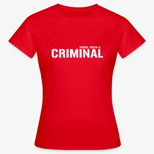 Y F CRIMINAL Logo White - Frauen T-Shirt