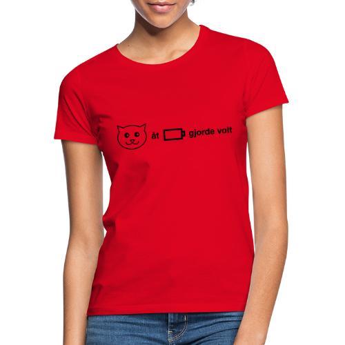 Katt åt batteri - T-shirt dam