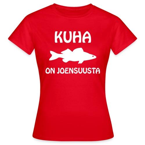 KUHA ON JOENSUUSTA - Naisten t-paita