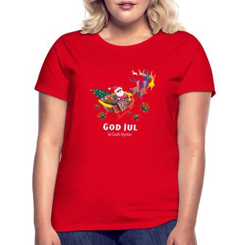 god jul og godt nyttår - T-skjorte for kvinner