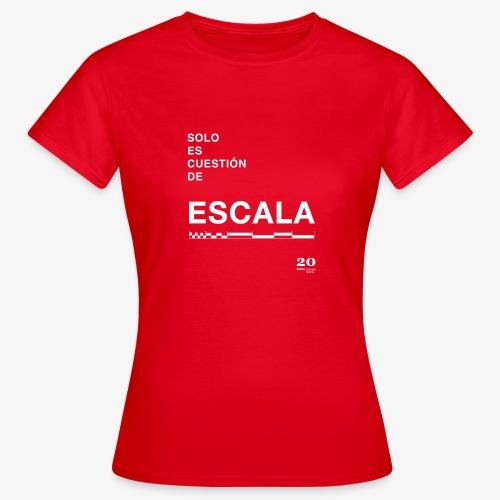 escala - Camiseta mujer