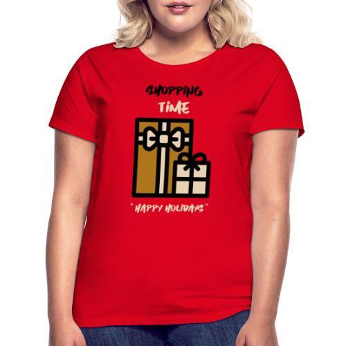 Julegenser - Shopping time - T-skjorte for kvinner