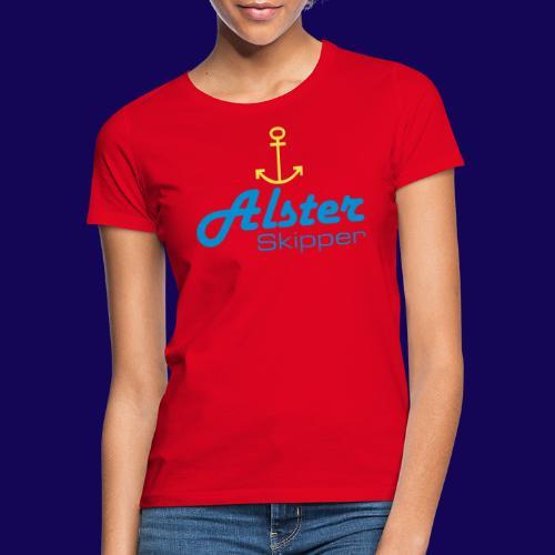 Hamburg maritim: Alster Skipper mit Anker - Frauen T-Shirt