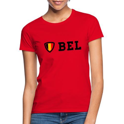 BEL Belgium Blason tricolore Football - T-shirt Femme