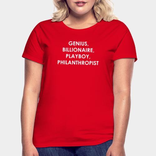 Genius Billionaire White - Women's T-Shirt