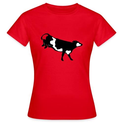 Landende koe vector - Vrouwen T-shirt