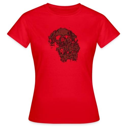 15xd red skull logo tp - Women's T-Shirt