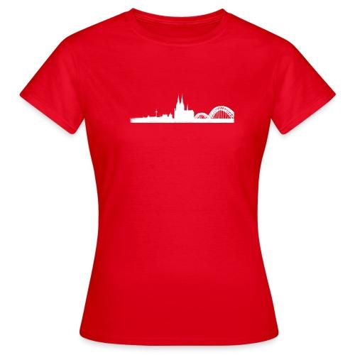 Köln-Skyline - Frauen T-Shirt