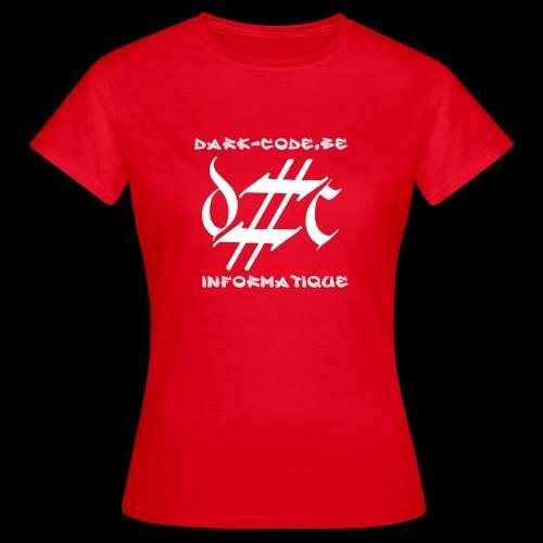 Dark-Code Gothic Logo - T-shirt Femme